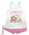 Mayoral Kindermode-Set T-Shirt & Shorts Enjoy the little things<br>Größe: 110, 116