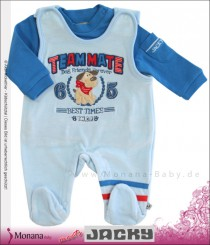Jacky baby romper & baby shirt light blue