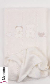 Picci knitted blanket Coco cream Dimensions: ca. 75 x 85 cm <b>Ready for delivery