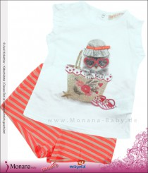 Mayoral child fashion set t-shirt & shorts cat im Korb