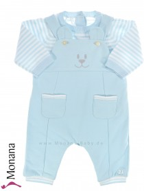 Emile et pink Strampler light blue with sweater