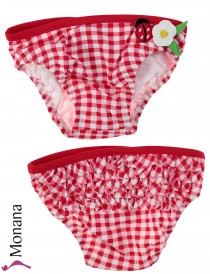 Mayoral swimming trunks rot-weiß kariert with ladybug