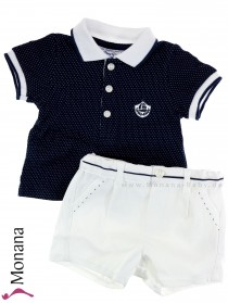 Mayoral baby set polo shirt & bermuda