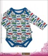 Noppies Langarm-Body All Over Boy Bead white print<br>Größe: 50