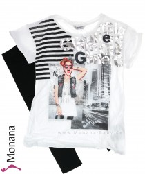 Mayoral Kindermode-Set T-Shirt & Legging You shine<br>Größe: 140, 152, 158, 164