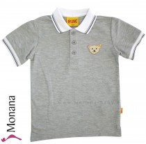 Steiff Collection Polo-Shirt Seaside grau<br>Größe: 116