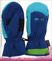 Maximo Softshell-Fausthandschuhe blue