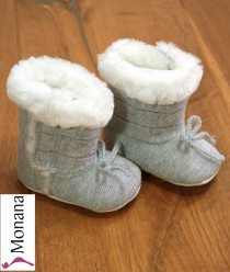 Mayoral Baby-Stiefel gray with Schleifchen