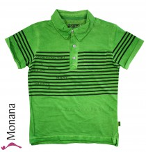 Kanz polo shirt Slogal Rebel green <b>UV-Schutz 30+</b>