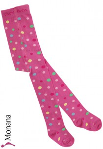 Ewers tights pink dots