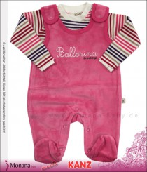 Kanz Nicki-Strampler & Shirt Ballerina in training<br>Größe: 50, 62, 68