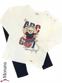 Mayoral Kindermode-Set Sweat-Shirt & Leggings ABC<br>Größe: 104, 110, 116, 122, 128, 134