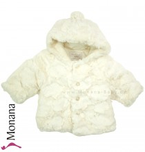 Mayoral plush baby jacket cream