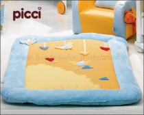 Picci play mat Vintage blau/ orange*** <b>Ready for delivery