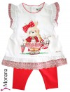 Mayoral Kindermode-Set Kleid & Leggings Teddy Girl<br>Größe: 80