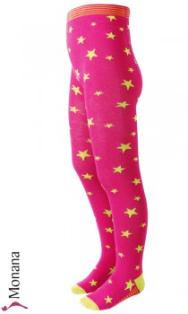 Maximo tights pink with green stars