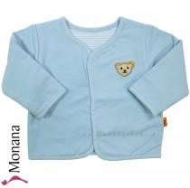 Steiff Collection Wende-Babyjacke hellblau<br>Größe: 68, 74