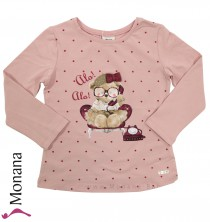 Mayoral Shirt Teddy Telephon-Girl<br>Größe: 98, 104, 122, 134