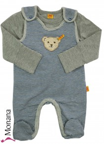 Steiff Collection Baby-Strampler & Baby-Shirt Be my No 1<br>Größe: 56, 62, 68, 74, 86