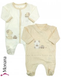 Mayoral Baby-Strampler-Set Teddy beige