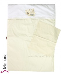 Picci bed linen for crib Bibi cream with inlay Dimensions: 65x 90 cm <b>Ready for delivery