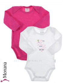 Schiesser Langarm-Babybody-Set Doppelpack Magic<br>Größe: 56, 68, 74, 92, 98