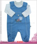 Kanz Baby-Strampler blau & Shirt Little Players<br>Größe: 62