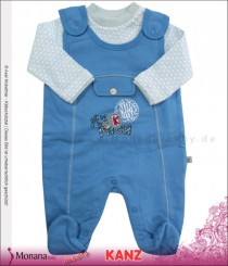 Kanz Baby-Strampler blau & Shirt Little Players<br>Größe: 50, 56, 62