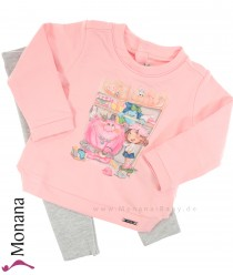 Mayoral Kindermode-Set Shirt & Glitzerleggings Monster im Schrank<br>Größe: 80, 86, 92