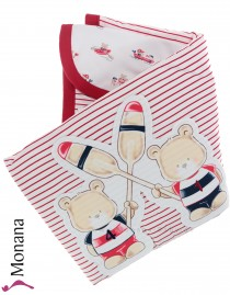 Mayoral baby blanket Paddelfreunde Dimensions: ca. 100 x 80 cm <b>Ready for delivery