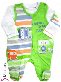Jacky Baby-Strampler & Baby-Shirt Campers on big Tour<br>Größe: 50, 56, 62, 68, 74