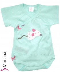 Kanz short sleeve wrap body little mouse