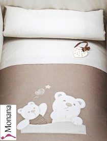 Picci bed linen for cot bed Mod. 12 Mami cream