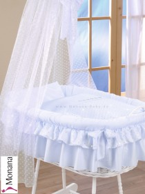 Leipold bed linen in Candy bleu 80 x 80 cm & 35 x 40 cm