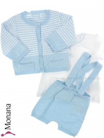Mayoral Baby-Set T-Shirt, Strickhose & Strickjacke<br>Größe: 56, 62, 74