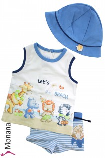 Mayoral swimming set with Badehose, t-shirt & Baby-Hut Lets go to the Beach