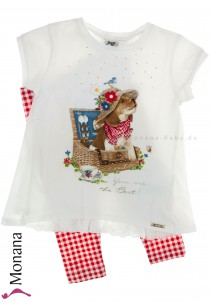 Mayoral Kindermode-Set T-Shirt & Leggings Picknick mit Hund<br>Größe: 128, 134