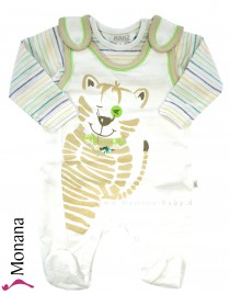Kanz Baby-Strampler & Shirt Jungle Child<br>Größe: 50, 56, 68