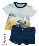 Mayoral Baby-Set T-Shirt & Bermudas Safari<br>Größe: 56, 62, 74