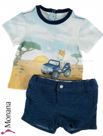 Mayoral Baby-Set T-Shirt & Bermudas Safari<br>Größe: 56, 62, 68, 74, 80