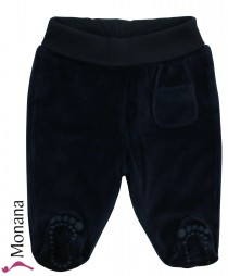 Kanz baby trousers with foot Frosty Times darkblue