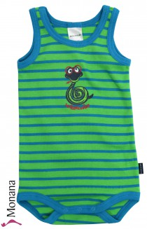 Schiesser baby body without sleeves Crazy Snake