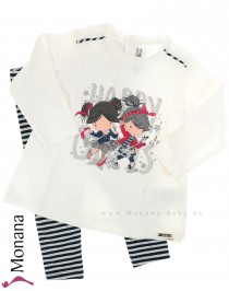Mayoral child fashion set shirt & Ringelleggings Happy Girls