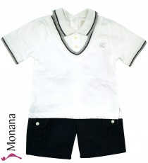 Emile et pink Anzug with polo shirt & shorts