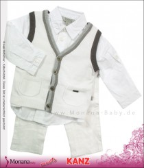 Kanz three-pieces Anzug Hemd, Strickweste & trousers Gentle Boys