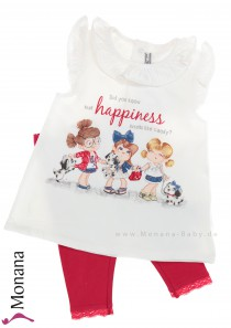 Mayoral child fashion set t-shirt & leggings Happiness