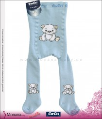 Ewers thermo tights light blue polar bear