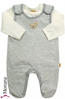 Steiff Collection Baby-Strampler & Baby-Shirt grau<br>Größe: 62, 68