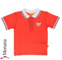 Steiff Collection Polo-Shirt Seaside orange<br>Größe: 92, 104, 110, 116