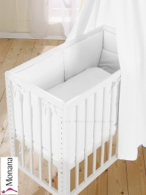 Leipold dressing for bed-side cot Mario Wendy white*** 2 fitted sheets and 1 bumper without a veil <b>Ready for delivery